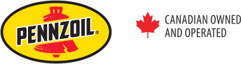 Pennzoil logo. Canadian Owned and Operated.